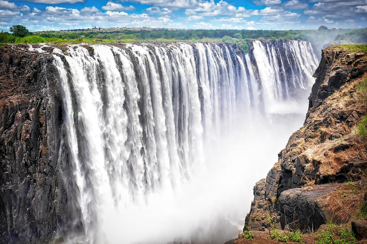 Водопад виктория рисунок