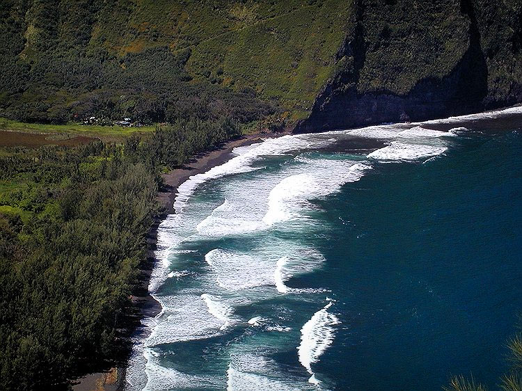 Hawaii Big Island Большой остров. Гаваии. Долина Waipi